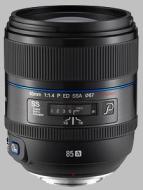 Samsung 85mm f/1.4 ED NX Lens