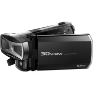 DXG - 128MB 3D/2D HD Flash Memory Camcorder - Black DXG-5F9V