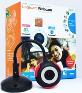 Logicam Webcam, Flexible Webcam, USB Web Camera - Webcam with built-in MIC - 5G Lens - Built-in microphone, Plug and Play - No driver, no Installation