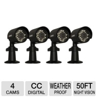 Lorex SG7530PK4 Indoor/Outdoor Security Camera with Night Vision 4-pack (Grey)