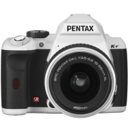 Pentax K-r White Digital SLR with 18-55mm Lens