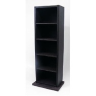 Faux Leather Media Storage Tower (DVDs, CDs & Video Games) - Brown