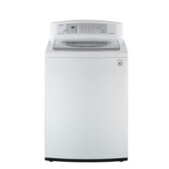 LG WT4801CW White 3.7 Cu. Ft. Large Capacity High Efficiency Top Load Washer WT