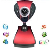 New Red 12 Megapixel Webcam Camera with Built-in Microphone and Built-in Adjustable LED Lights / NightVision, Plug and Play by XGadget