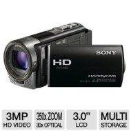 "Handycam HDR-CX160 HD Flash Memory Camcorder (3"" LCD - Touchscreen - CMOS - 16:9 - 3.3 Megapixel Image - 1.5 Megapixel Video - AVCHD, MPEG-2 - 30x Opt"