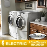 "Whirlpool Duet 9610 Electric Laundry Suite 4.5 CuFt Washer7.5 CuFt Dryer13"" Pedestals"