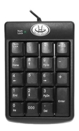 GearHead KP2200U 19-Key Numeric Keypad - USB Connectivity Spill-Proof Design Black New