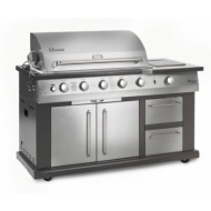 Landmann Avalon 7 Burner Gas BBQ with Cabinet and Rotisserie