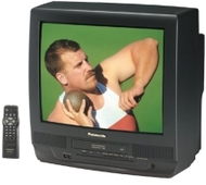 Panasonic 20in TV w/2 Head VCR Combo