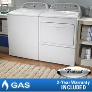 Whirlpool Cabrio Gas Suite 4.3 CuFt Washer 7.4 CuFt Dryer