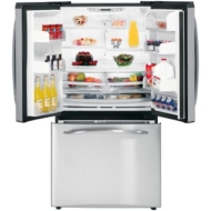 GE Profile PFSS5NFW 25.1 CuFt Bottom-Freezer Refrigerator
