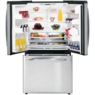 GE Profile PFSS5NFW 25.1 CuFt Bottom-Freezer Refrigerator