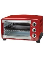 Kings Brand Red 6-Slice Toaster Oven- Toasts Bakes Broils Grills Roasts & Warming oven