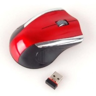 Neewer 2.4GHz Red Wireless Portable USB Optical Mouse WITH USB RECEIVE Signal