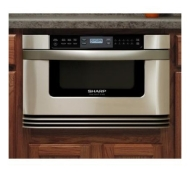 Sharp Insight Pro Microwave Drawer KB-6021MS - Microwave oven - built-in - 28.3 litres - 1000 W - stainless steel