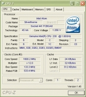 Intel Atom 230 1.6 GHz - 2 Go RAM - DD 160 Go