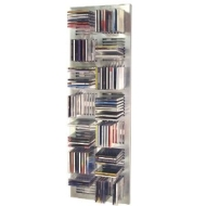 DISTAN - Wall Mounted Grid 112 CD Media Storage - Silver