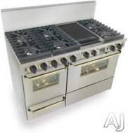 : 48&#039;&#039; Pro-Style Natural Gas Range with 6 Sealed Ultra High-Low Burners 2.92 cu. ft