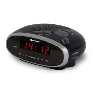 Karcher UR 1010 Uhrenradio mit Wecker schwarz/silber