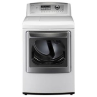 LG SteamDryer 7.3 Cu. Ft. 14-Cycle Ultra Capacity Gas Dryer - White