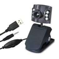 PPM Webcam 2 Megapixel Built-in microphone Built-in 6 LED lights