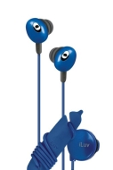 iLuv iEP311BLU In-Ear Stereo Earphones with Volume Control (Blue)