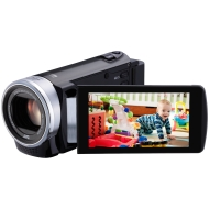 JVC GZ-E200BEU Full-HD Camcorder (7,6 cm (3 Zoll) Display, 40-fach opt. Zoom, F1.8, HDMI, USB 2.0) schwarz