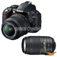 Nikon D3100 14MP DX-format Digital SLR Kit w/ 18-55mm and Nikon 55-300mm VR