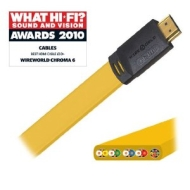 Wireworld Chroma 6 HDMI - High Speed With Ethernet - 2m- FREE pack Fisual Chunky Cable Ties worth £3.99.