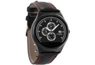 XLYNE  PRO QIN XW PRIME II (54016) Smart Watch Metall Echtleder, 210 mm x 22 mm, Gehäuse: Black Chrome / Armband: Carbon Red Black