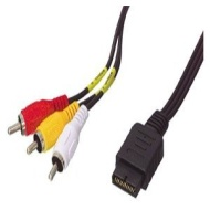 1.5m Sony Playstation to RCA/Phono Cable ~ High Quality ~ Triple RCA ~ Audio ~ Video ~ AV ~ Red/White/Yellow ~ PS1 ~ PS2