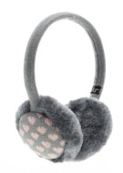 KitSound Audio Earmuffs for iPod/iPhone/iPad and MP3 Player - Grey/Pink Heart