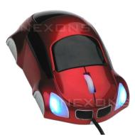 USB Optical PC mouse - Car Shape - white