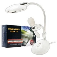 Super Bright 2 in 1 Laptop LED Lamp & Fan USB Powered White