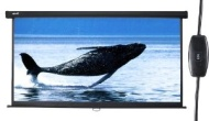 "Duronic EPS133/169 HD Projector Screen 133"" (Screen: 295cm(w) X 165cm(h))- 16:9 Widescreen Matte White Screen - Electric Motorised switch"