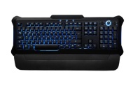 Perixx PX-1100, Backlit Gaming Keyboard - USB - Red/Blue/Purple Illuminated Keys - Full Size Layout - Elegant Rubber Black Design - 20 Million Key-pre