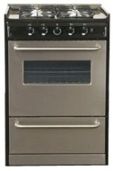 "Summit TNM630R Professional Series 24"" Gas Slide-In Range (Stainless Steel)"