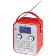 Trevi VRA-782 Retro Alarm Clock Radio AUX - Red