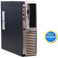 HP Off-Lease, Refurbished Black DX7200 Desktop PC with Intel Pentium D Processor, 2GB Memory, 80GB Hard Drive and Windows 7 Home Premium (Monitor Not