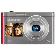 Samsung DV300F Dual View Smart Camera - Silver/Red (EC-DV300FBPRUS)