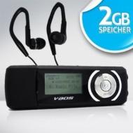 VAOS Mini Clip MP3-Player x-Sports 2GB 2 GB MP3-VS1000 blau