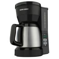 Black & Decker DCM675BMT 5-Cup Programmable Coffee Maker with Carafe, Black/Stainless