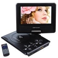 """DBPOWER® 7.5"""" Lettore DVD portatile con display inclinabile, Massimo support con schede SD, pennette USB e riproduzione diretta di MP4/AVI/RMVB/MP3/JP"""