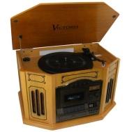 Grace Digital Victoria Tunewriter III 7 in 1 Stereo Entertainment Center GDI-TW3USBk (Oak)