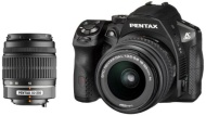 Pentax K-30 DSLR Camera with 18-55mm and 50-200mm DAL Lens Kit - Black
