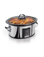 Crock-Pot SCVT650-PS 6-1/2-Quart Programmable Touchscreen Slow Cooker, Stainless Steel