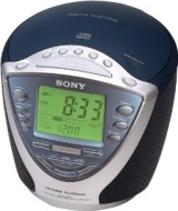 Sony ICF-CD843V - CD clock radio - navy blue