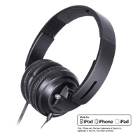BiGR Audio BLVCK SCVLE XL-BS1 Headset (Stereo - Black - Mini-phone - Wired - 24 Ohm - 4.70 Hz - 47 kHz - Over-the-head - Binaural - Ear-cup - 6 ft Cab