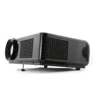 (Black) NEW White Full Color HD LED Projector 16:9 4:3 Maximum 30000 hours 2000 Lumens Support 1080P 720P, Native Resolution 640*480, Cont