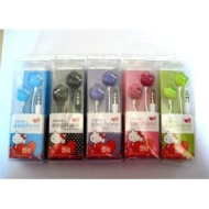 Hello Kitty Stereo Earphone in ear headphones colours may vary